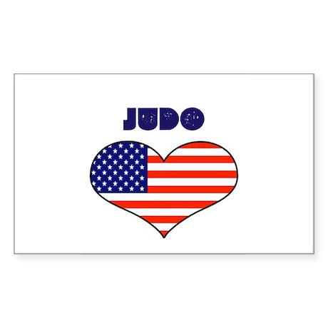 LOVE JUDO STARS AND STRIPES Sticker (Rectangle)