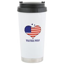 LOVE WATERPOLO STARS AND STRIPES Travel Mug