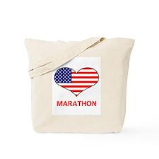 LOVE MARATHON THE STARS AND STRIPES Tote Bag