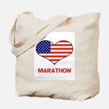 LOVE MARATHON THE STARS AND STRIPES Tote Bag