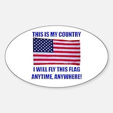 Flag2a Sticker (Oval)
