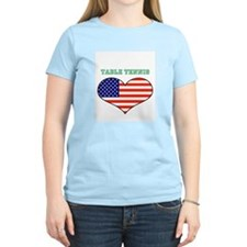 I LOVE TABLE TENNIS THE STARS AND STRIPES T-Shirt