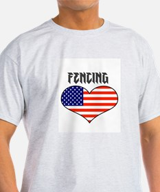LOVE FENCING STARS AND STRIPES T-Shirt