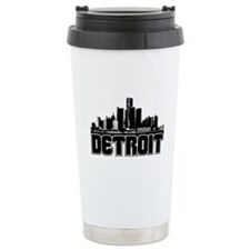 Detroit Skyline Travel Mug