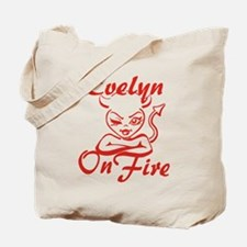 Evelyn On Fire Tote Bag