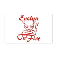 Evelyn On Fire Wall Decal