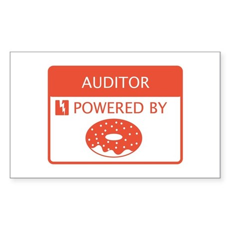 Auditor Powered by Doughnuts Sticker (Rectangle)