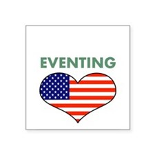 "LOVE EVENTING STARS AND STRIPS Square Sticker 3"" x"