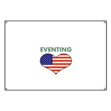 LOVE EVENTING STARS AND STRIPS Banner