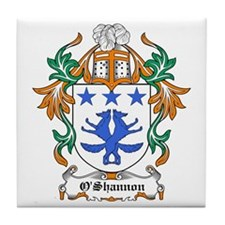 O'Shannon Coat of Arms Tile Coaster