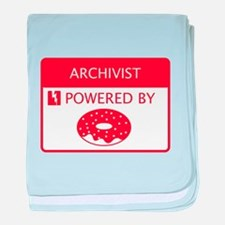Archivist Powered by Doughnuts baby blanket