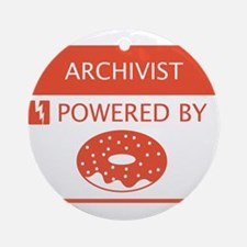 Archivist Powered by Doughnuts Ornament (Round)