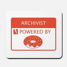Archivist Powered by Doughnuts Mousepad