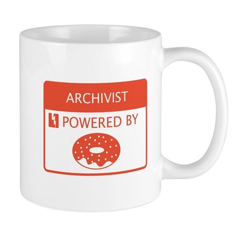 Archivist Powered by Doughnuts Mug