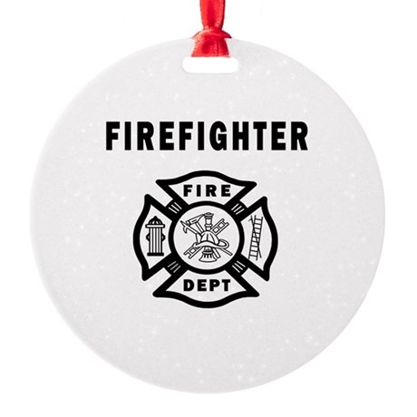 Firefighter Round Ornament