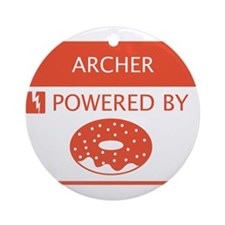 Archer Powered by Doughnuts Ornament (Round)