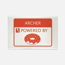 Archer Powered by Doughnuts Rectangle Magnet