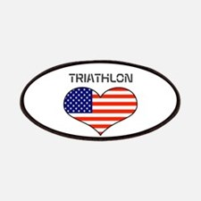 LOVE TRIATHLON STARS AND STRIPES Patches