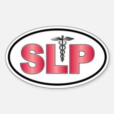 SLP Red Oval Decal