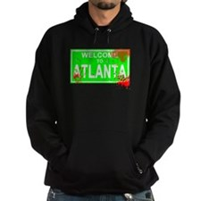 Welcome to Atlanta Bloody sign Hoodie
