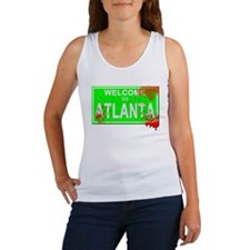 Welcome to Atlanta Bloody sign Women's Tank Top