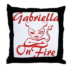 Gabriella On Fire Throw Pillow