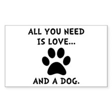 Need Love Dog Decal