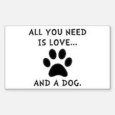 Need Love Dog Decal