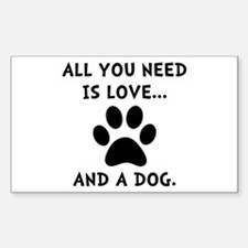 Need Love Dog Sticker (Rectangle 10 pk)