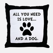 Need Love Dog Throw Pillow