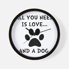 Need Love Dog Wall Clock