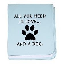 Need Love Dog baby blanket