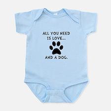 Need Love Dog Infant Bodysuit