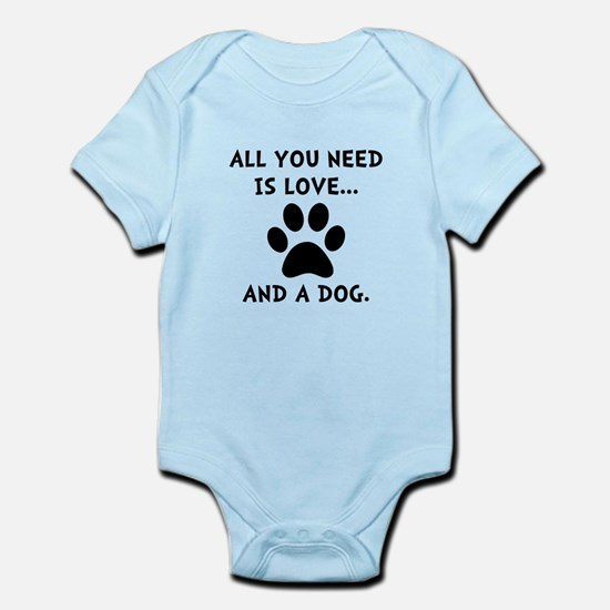 Need Love Dog Infant Bodysuit