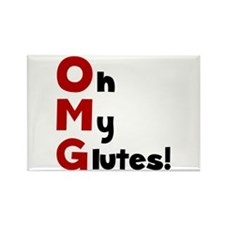 OMG Glutes Rectangle Magnet (10 pack)