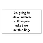 Outstanding Sticker (Rectangle 10 pk)