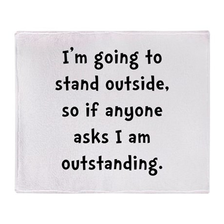 Outstanding Throw Blanket