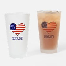 LOVE RELAY the stars and stripes Drinking Glass