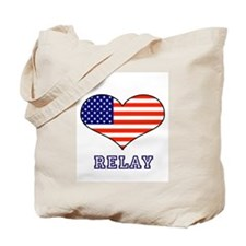LOVE RELAY the stars and stripes Tote Bag