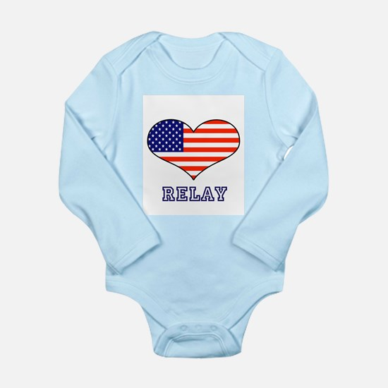 LOVE RELAY the stars and stripes Long Sleeve Infan