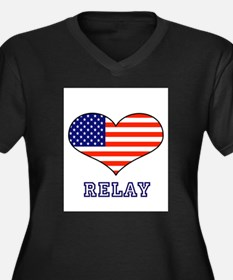LOVE RELAY the stars and stripes Women's Plus Size