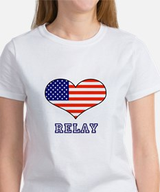 LOVE RELAY the stars and stripes Women's T-Shirt