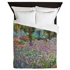 Irises In Monet's Garden Queen Duvet