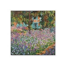 "Irises In Monet's Garden Square Sticker 3"" x 3"""