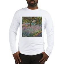 Irises In Monet's Garden Long Sleeve T-Shirt