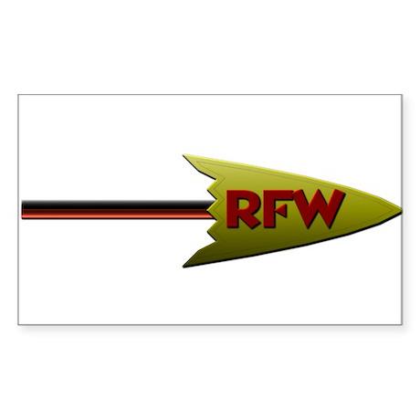 Redskins Fans Wanted Arrow Logo Sticker (Rectangle