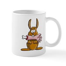 rabbit zombie eating arm Mug