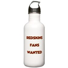 Redskins Fans Wanted Water Bottle