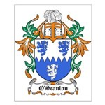 O'Scanlon Coat of Arms Small Poster