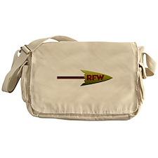 Redskins Fans Wanted Arrow Logo Messenger Bag